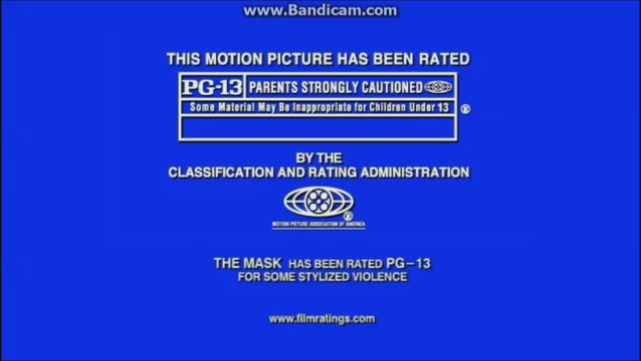 MPAA PG-13 Rating (The Mask variant)