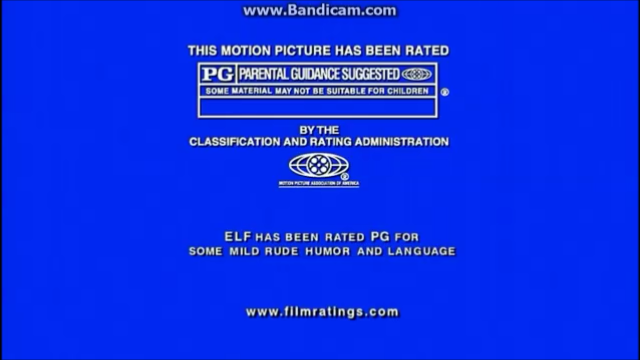MPAA PG Rating (Elf variant)