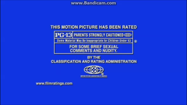 MPAA PG-13 Rating (Welcome to Mooseport variant)