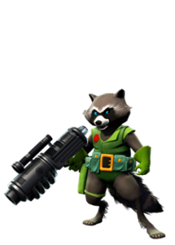 Rocket Raccoon original green.png