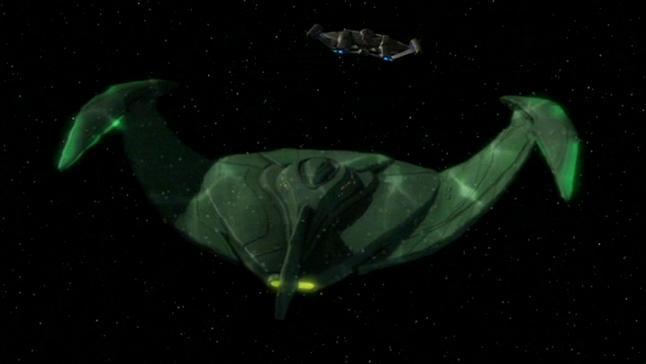 Star Trek Romulan Ship -- Cloaking