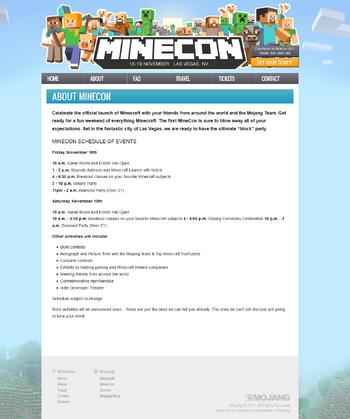Infos zur MineCon 2011