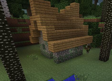 Ein Druidenhaus mit Druide