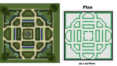 Tutoriels jardin la fran aise le minecraft wiki officiel - Jardin maison minecraft nimes ...