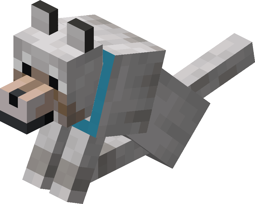 Sitting Tamed Wolf with Light Blue Collar.png