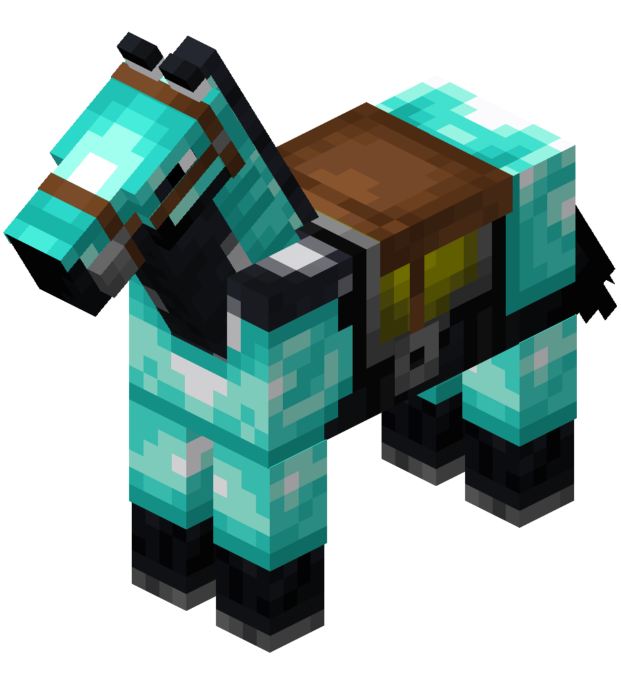 Black Horse with White Dots (Saddle and Diamond Armor).png