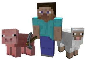 The image that currently appears on the minecraft.net home page