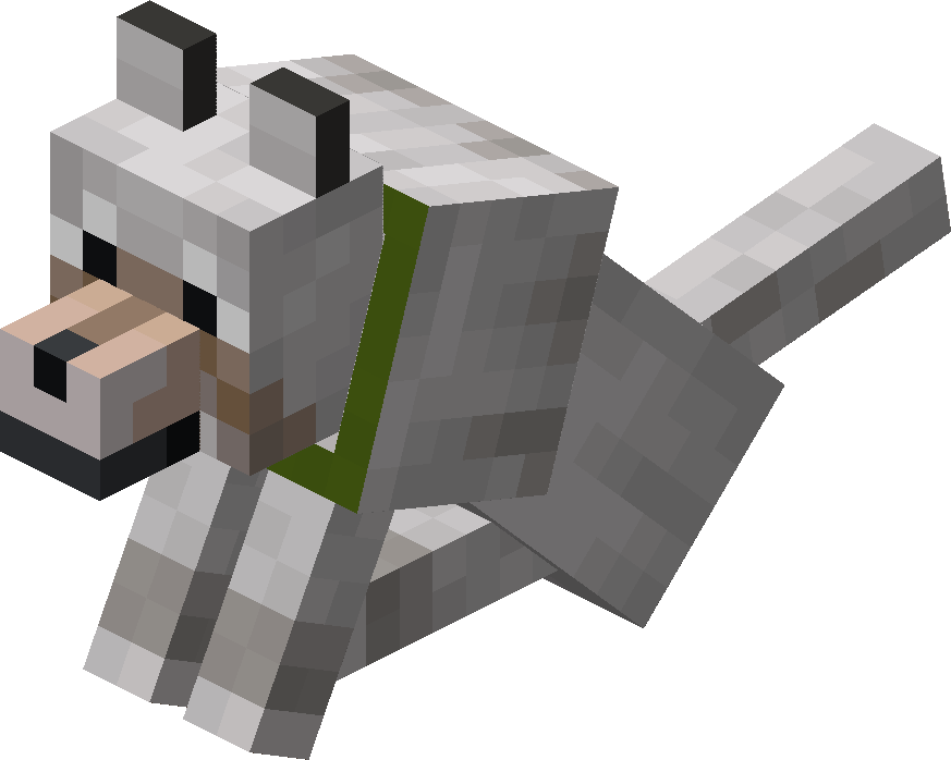 Sitting Tamed Wolf with Green Collar.png