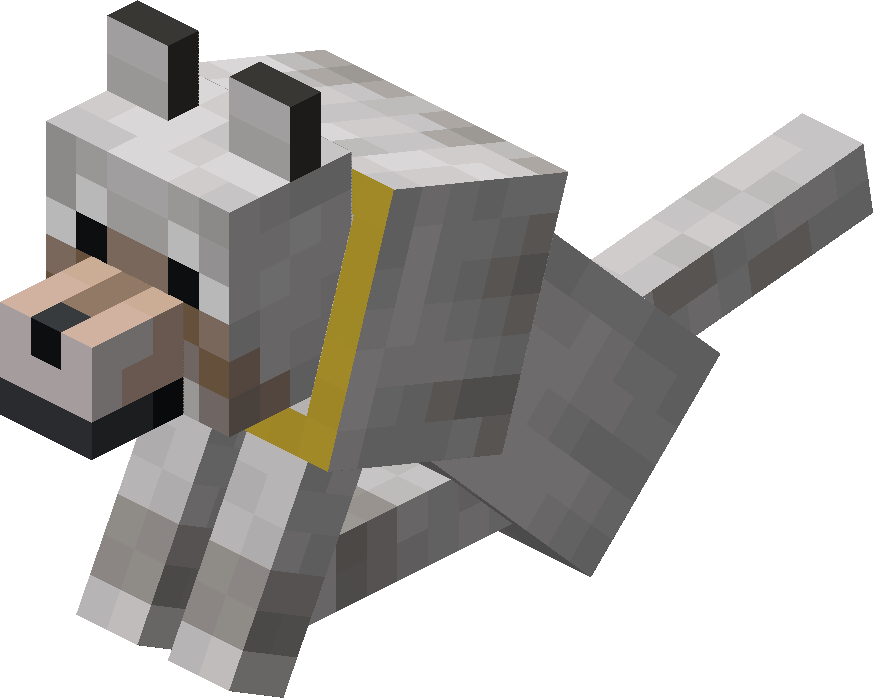Sitting Tamed Wolf with Yellow Collar.png