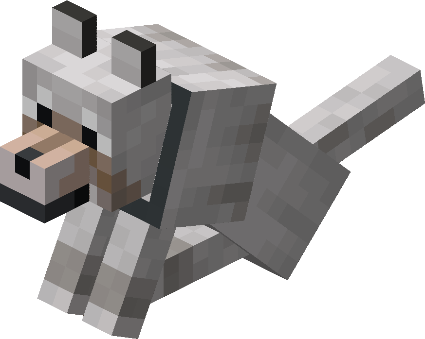 Sitting Tamed Wolf with Gray Collar.png