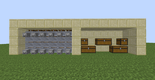Minecraft Compact Storage Room Design