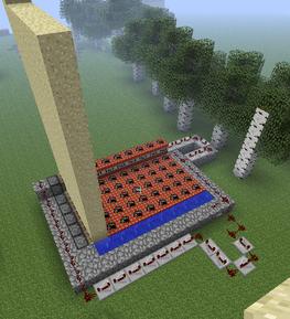 Minecraft пушка схема