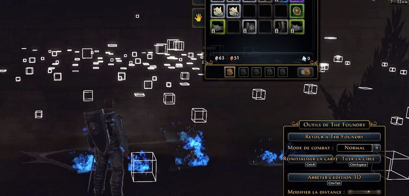 Vue en mode Auteur des objets de la carte en mode Activer l'Édition 3D
