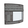 Industrial Curved Windowed Wall 02