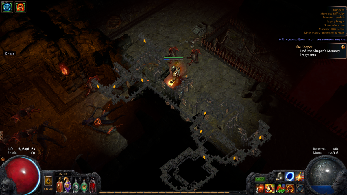 Dungeon map official path of exile wiki for Floor 5 boss map
