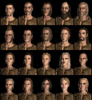 Breton human race face compilation.
