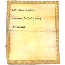 Restore Health potion: Monarch Dragonfly Wing, Blisterwort