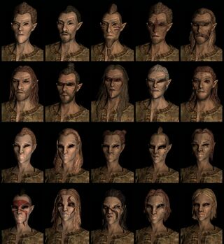 Wood Elf race face compilation.