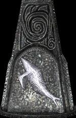 Whale glyph pillar