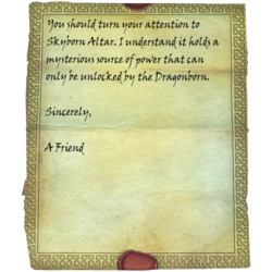 letter from a friend skyrim letter from a friend skyrim wiki 41451