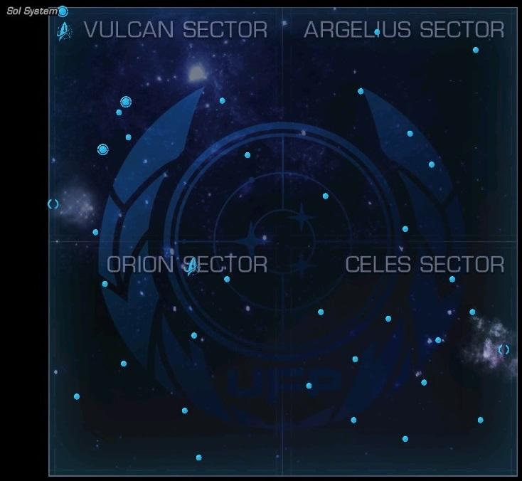 Karte des Beta-Quadranten