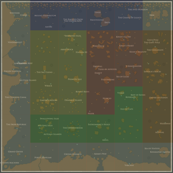 Map  Official Sunless Sea Wiki