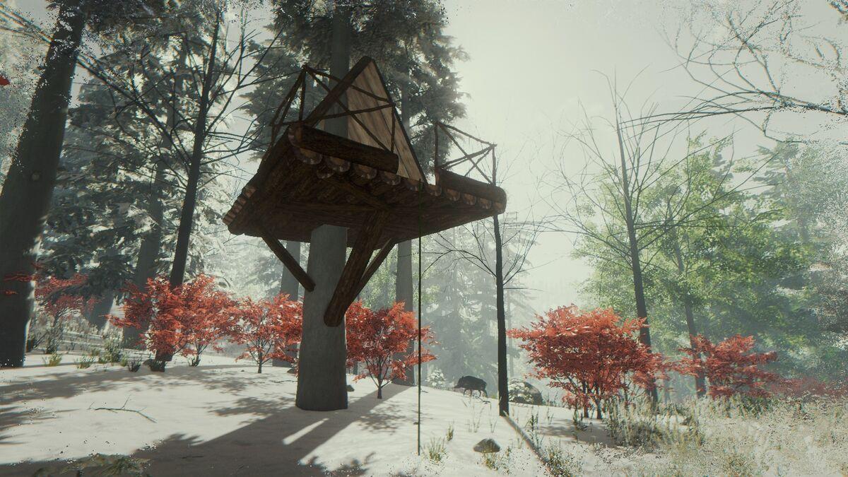 alpines baumhaus the forest wiki offizielles deutsches. Black Bedroom Furniture Sets. Home Design Ideas