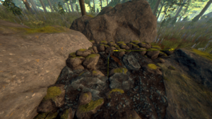 how to get into the sinkhole on the forest