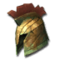 Heavy Bronze Crested Helm