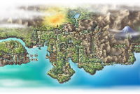 Johto as seen in Pokémon HeartGold and SoulSilver