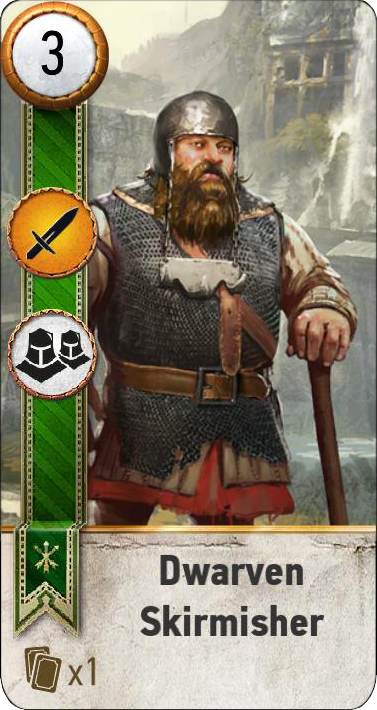 Tw3 gwent card face Dwarevn Skirmisher 3.png