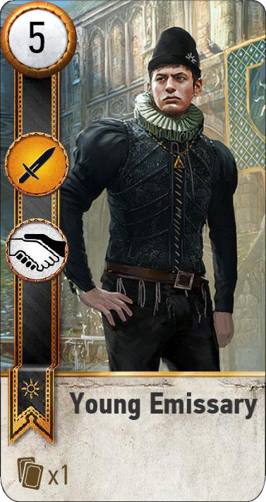 Tw3 gwent card face Young Emmisary 1.png