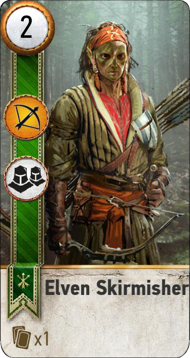 Tw3 gwent card face Elven Skirmisher 2.png
