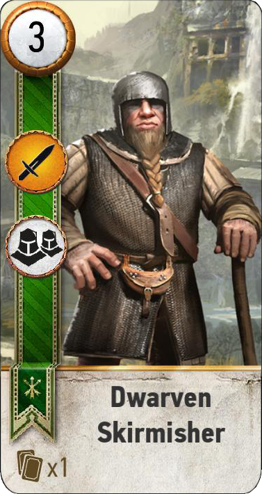 Tw3 gwent card face Dwarevn Skirmisher 2.png