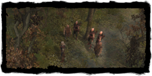 Geralt with his Scoia'tael posse