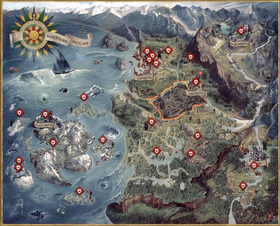 The Witcher Weltkarte
