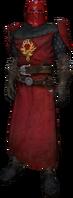 Order knight, dress uniform, red helmet, red detail