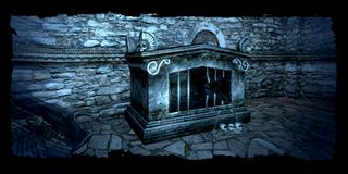 crumbling sarcophagus