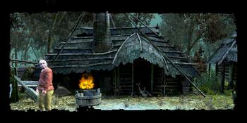 Vaska, the village eldress' house