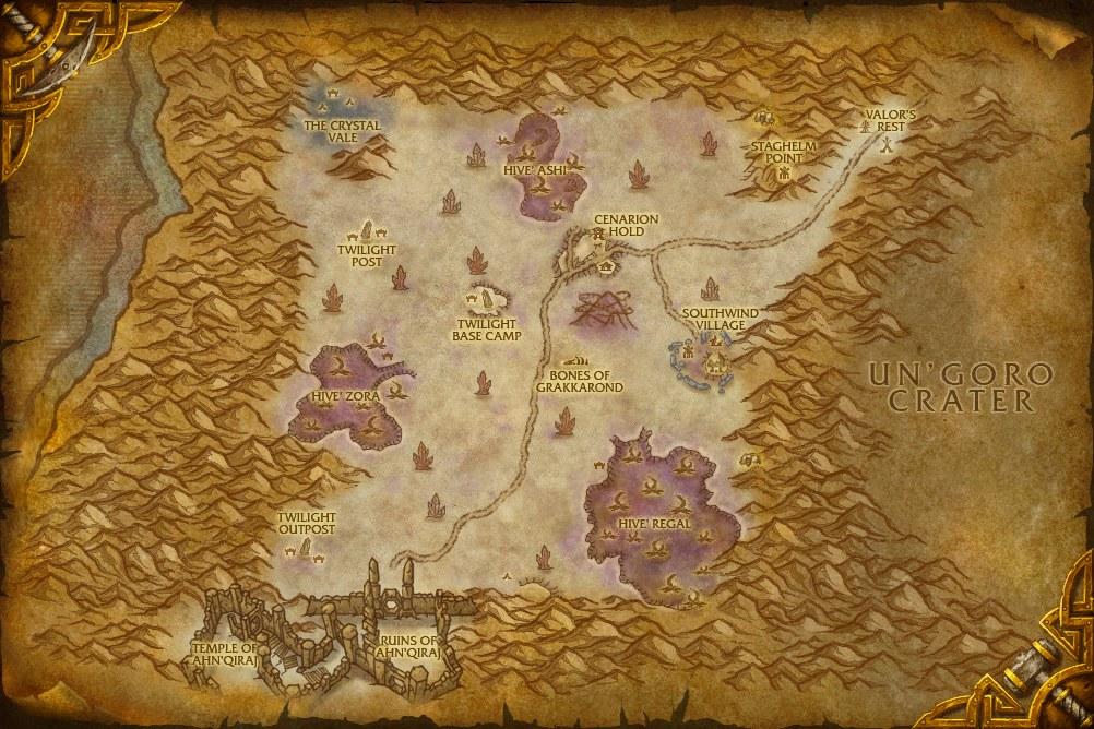 Mapa Silithus