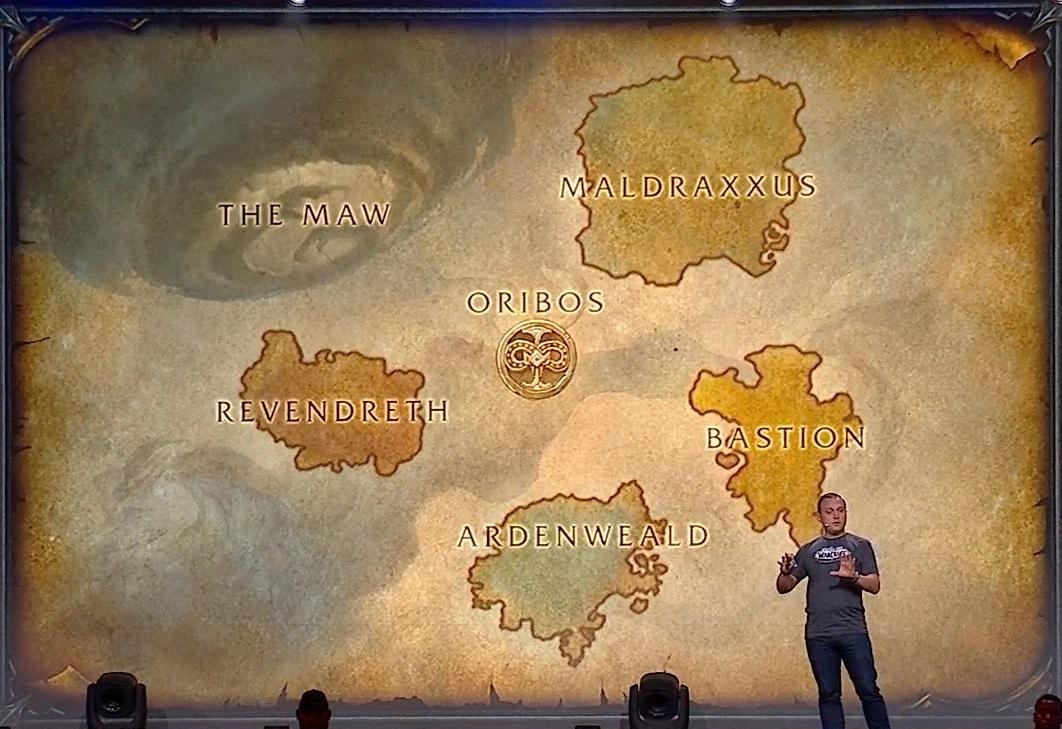 Mapa de las Tierras Sombrías