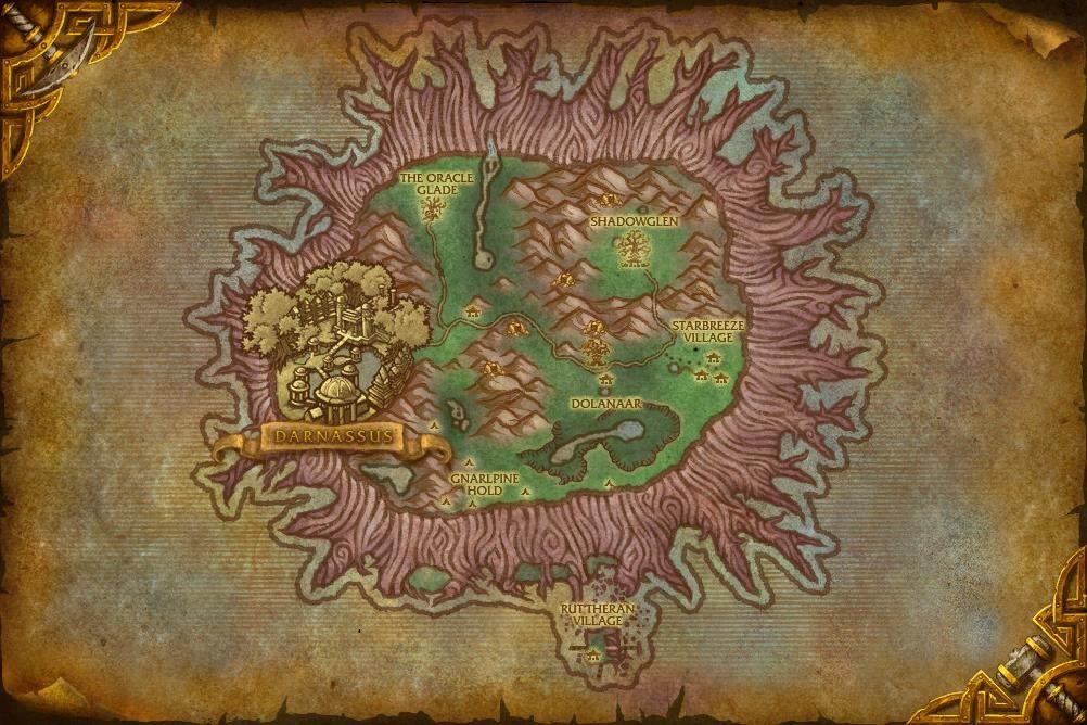 Mapa Teldrassilu