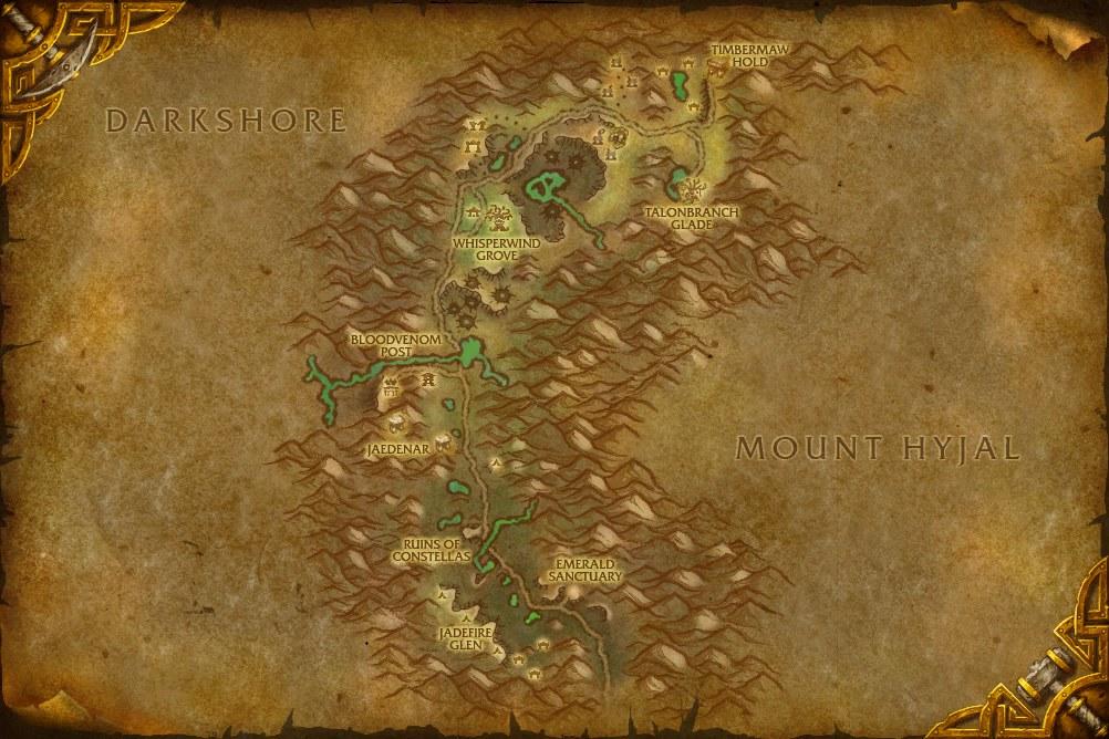 Mapa Spaczonego Lasu