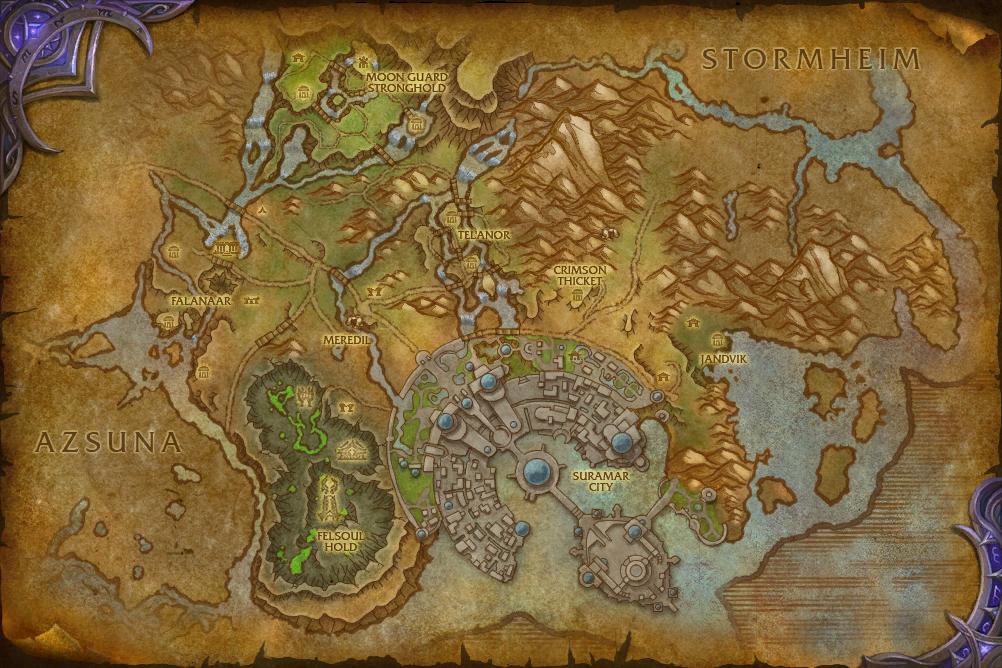 Mapa de Suramar
