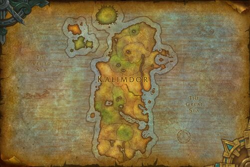 world of warcraft map kalimdor. Flame Warden of Kalimdor/Map