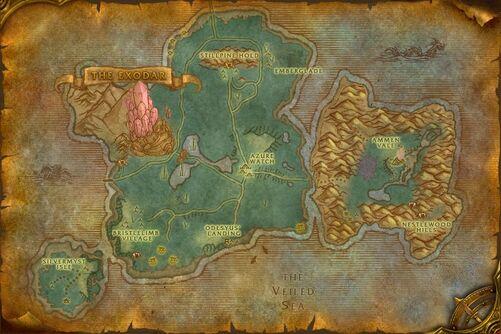 Azuremyst Isle map