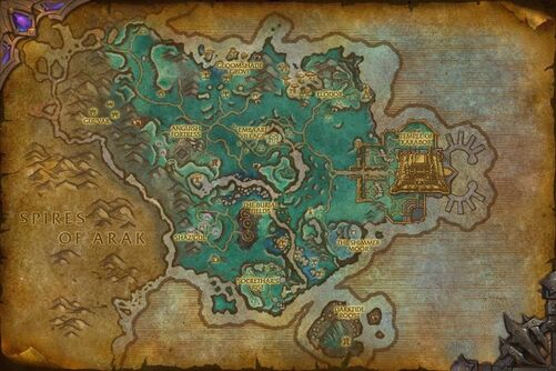Shadowmoon Valley (alternate universe) map
