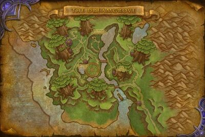 map of the Dreamgrove