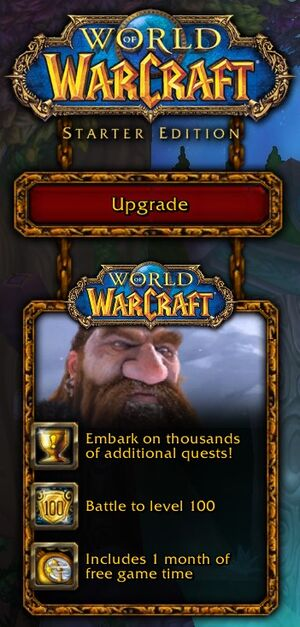 World of Warcraft Starter Edition to Full? | Yahoo Answers