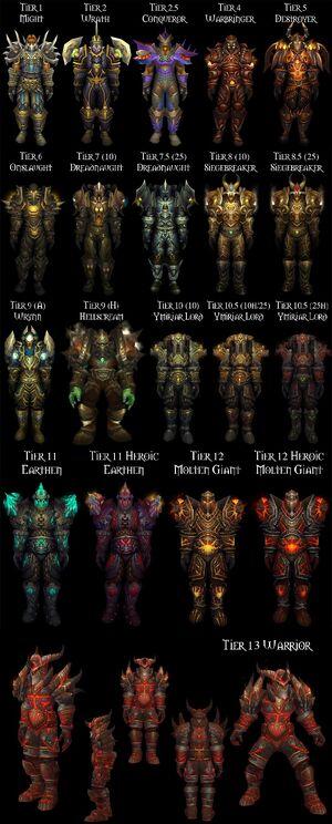 Warrior Tier Sets
